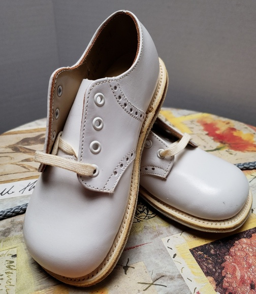 d17a1abe9e2be Children's Sturdy Stride White Saddle Oxford Shoes